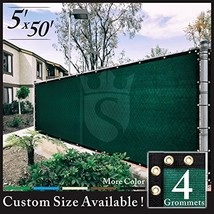Royal Shade 5' x 50' Green Fence Privacy Screen Cover Windscreen, with H... - $76.05