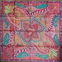 Hermes Scarf Le Jardin de la Maharani by Annie Faivre 90 cm Silk Pink Ca... - $652.41