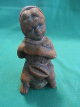 RARE Collectible ANTIQUE Cast Iron YOUNG GIRL  Coin Bank 1900's...SALE - $71.28
