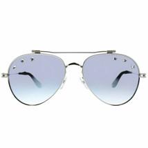 Givenchy GV7057/STARS GKZ Palladium/Blue Mirrored Gradient Aviator Sungl... - $205.00