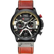 Curren Men's Leather Chronograph Wrist Watch 8329 (Brown & Black) - $42.00