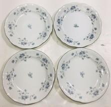 "Johann Haviland Bavaria Germany Blue Garland 4CT 6"" Desert/Bread Plates - $39.55"