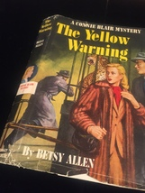 """1951 """"The Yellow Warning"""" by Betsy Allen frame-ready dust jacket (no book) image 4"""