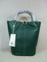 NWT Tory Burch Malachite Green Miller Bucket Tote image 5