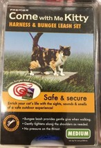 New PetSafe Come With Me Kitty Cat Harness Bungee Leash Medium Royal Blu... - $15.99