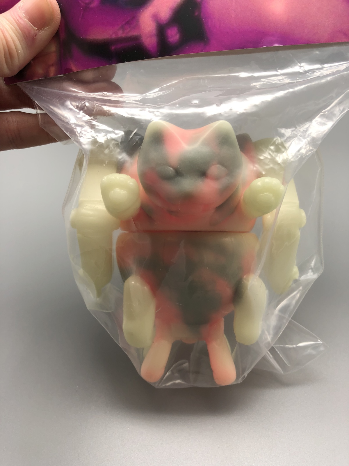 2-Sided GID (Glow in Dark) Mecha Cat - Mint in Bag