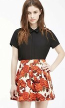 Forever 21 Box Pleat Rose Print Floral Skirt Size 30 / M - $19.79