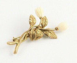 ESTATE VINTAGE Jewelry VINTAGE HAWAIIAN PIKAKE TULIP FLOWER BROOCH  - $30.00