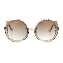 Womens Fashion Sunglasses Round Clear Frame Horn Rim Gradient Lens - $10.95