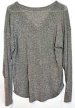PST by Project Social T Women's Gray Pullover V-Neck Oversized Knit Sweater S image 2