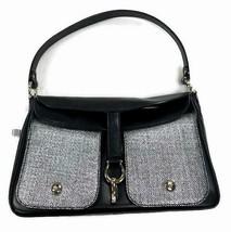 Kate Spade Women's Sutton Small Perrin Bag Purse Black Woven Silver Gram... - $244.46 CAD