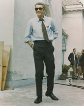 Steve McQueen full length in shirt & tie wearing medal 1960's 16x20 Can... - $69.99