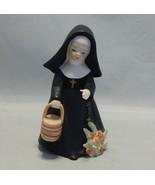 Napco Figurine Nun with Bucket R 5279 - $9.90