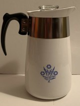 Corning Ware 6 Cup Blue Cornflower Stove Top Coffee Maker Percolator Com... - $24.75