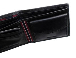 Tommy Hilfiger Men's Premium Leather Id Credit Card Coin Wallet Black 31Tl25X020 image 10