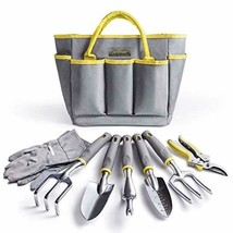 Jardineer Garden Tools Set,8 PCS Gardening Tools Kit with Mini Garden To... - $46.78