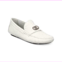 Roberto Cavalli 6644 A Men's Embossed Shoes White EU 40 - $448.63