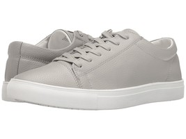 NWOB $100 STEVE MADDEN LT GRAY TUMBLED LEATHER BOUNDED LACE UP SNEAKERS ... - $29.69