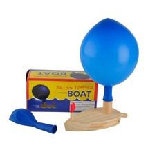 Wooden Bath Balloon Boat Powered Kids Bathroom Classic Floating Toys Gif... - $9.72