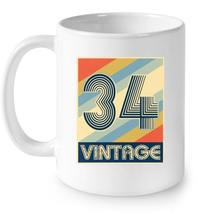 Vintage 34 84th Birthday Gift Coffee Mug - $13.99+