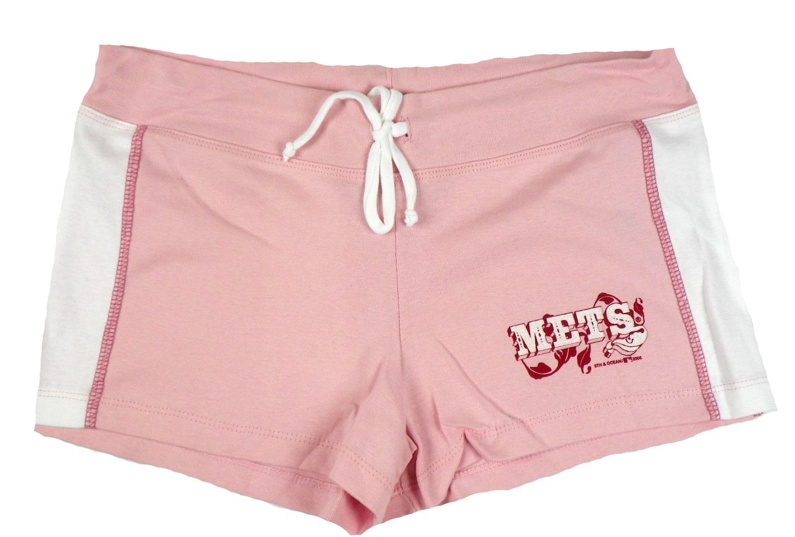 Junior Women's New York Mets Shorts Pink Pastel Lounge MLB Baseball Short