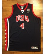 Authentic Reebok 2003 Team USA Olympic Allen Iverson Road Away Jersey 56... - $309.99