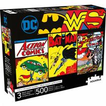 DC Comics Vintage Heroes 3-Pack of 500 Piece Puzzle Set Multi-Color - $40.98