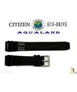 Citizen Eco-Drive Aqualand BJ2004-08E Original Black Rubber Watch Band S... - $74.95