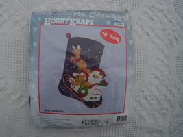 NIP Vintage Hobby Kraft Christmas Stocking  Kit #9225 Nite Before Christ... - $14.99