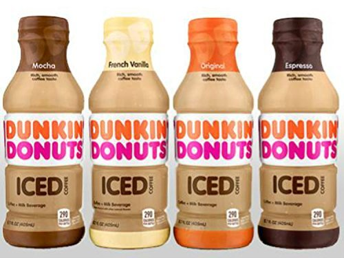 Dunkin Donuts Bottled Ice Coffee (4 Flavor Variety Pack ...