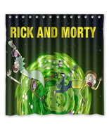 Rick and Morty Pattern 04 Creative Bath Shower Curtains Bathroom Waterproof - $46.89
