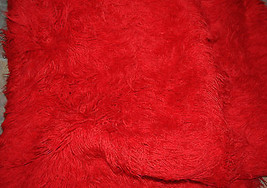 Flokati Red Floor Rug 88 x 74 Macedonia New - $197.85