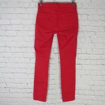 J Brand Jeans Pants Womens 24 Red Skinny Leg C04  image 3