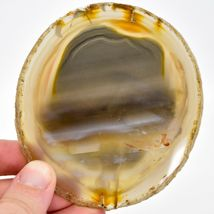 4pc. Polished Agate Quartz Crystal Sliced Slab Gemstone Coaster Set image 7