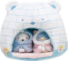 New! Sumikko Gurashi Plush Doll White Bear Friends House of Ice San-X Ja... - $65.44