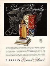 Yardley Perfume AD Bond Street 1937 Art Deco Packaging Graphics Bottle D... - $14.99