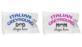 Italian Greyhound Mom and Dad Pillow Cases (Couple) - $19.55