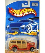 2000 Hot Wheels Collector No #193 '40s WOODIE Orange/Tan w/Chrome Lace W... - $6.50
