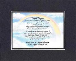 Personalized Touching and Heartfelt Poem for Baptism - I Know I Have A P... - $22.72