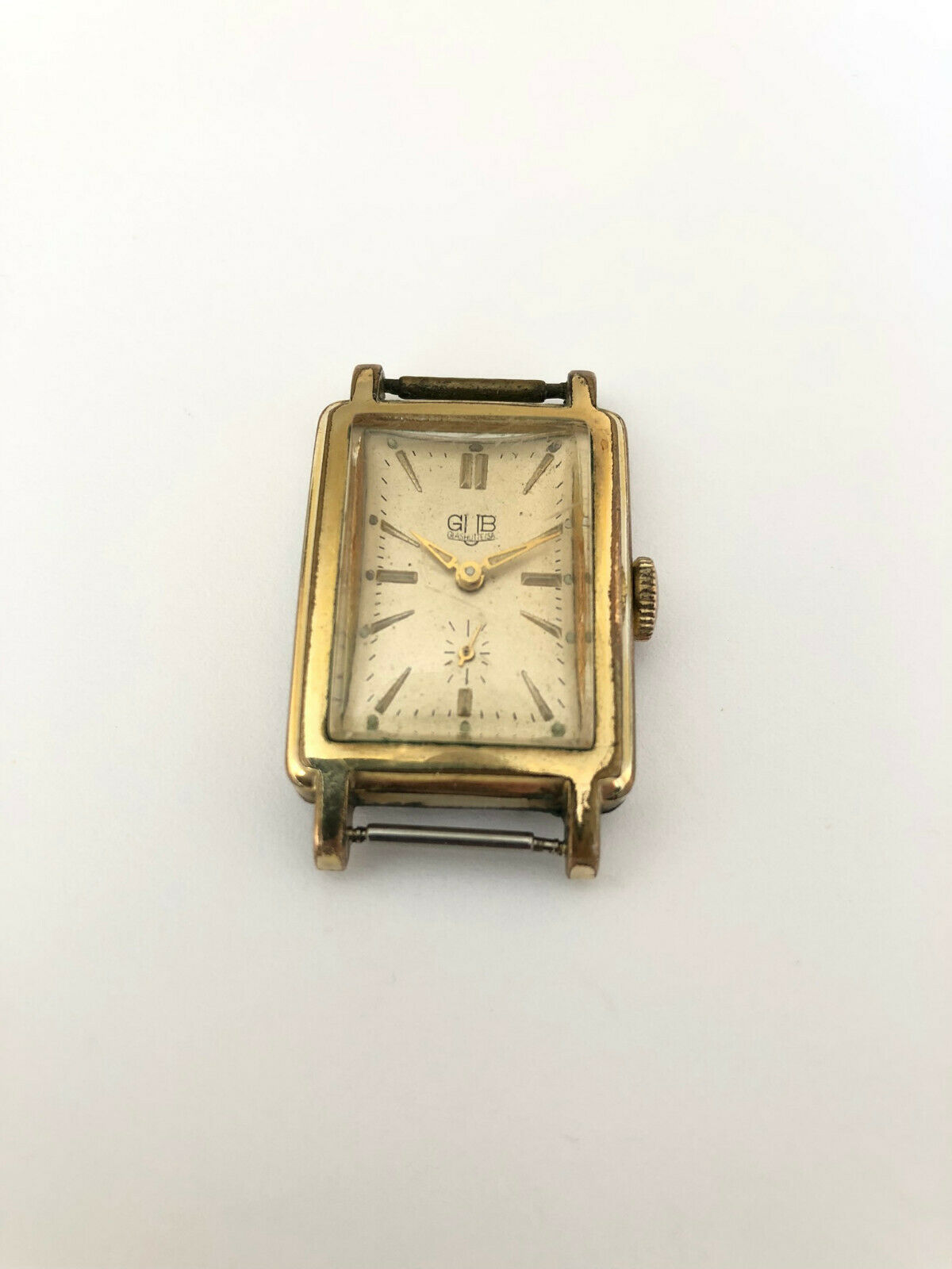 Primary image for Vnt Very Rare GUB GLASHUTTE Rectangular cal.62.2 Gold plated Germany Watch