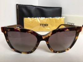 New FENDI FF 0128/S MFXN3 54mm Purple Tortoise Cat Eye Women's Sunglasses - $299.99