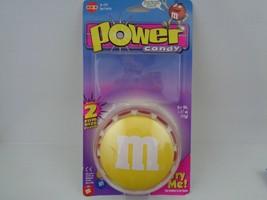 Power Candy M&M Dispenser NO.4735 Rare Yellow color - $14.85