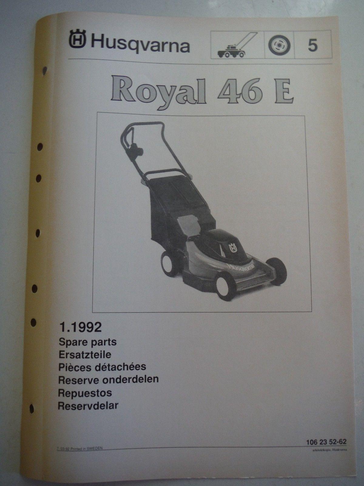 HUSQVARNA lawnmower spare parts manual Royal and 26 similar items