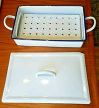 Vintage Enamel Ware Medical Sterilizing Pan Tray with Lid & Inner Tray B... - $67.68