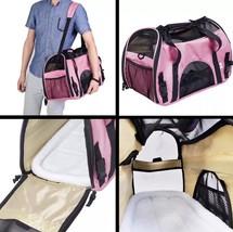 Pet Carrier Soft Sided Large Cat / Dog Comfort Mineral PINK Bag Travel A... - $30.86