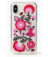 Kate Spade New York Case For IPhone X Floral Print - Jeweled Garland Comold - $29.99