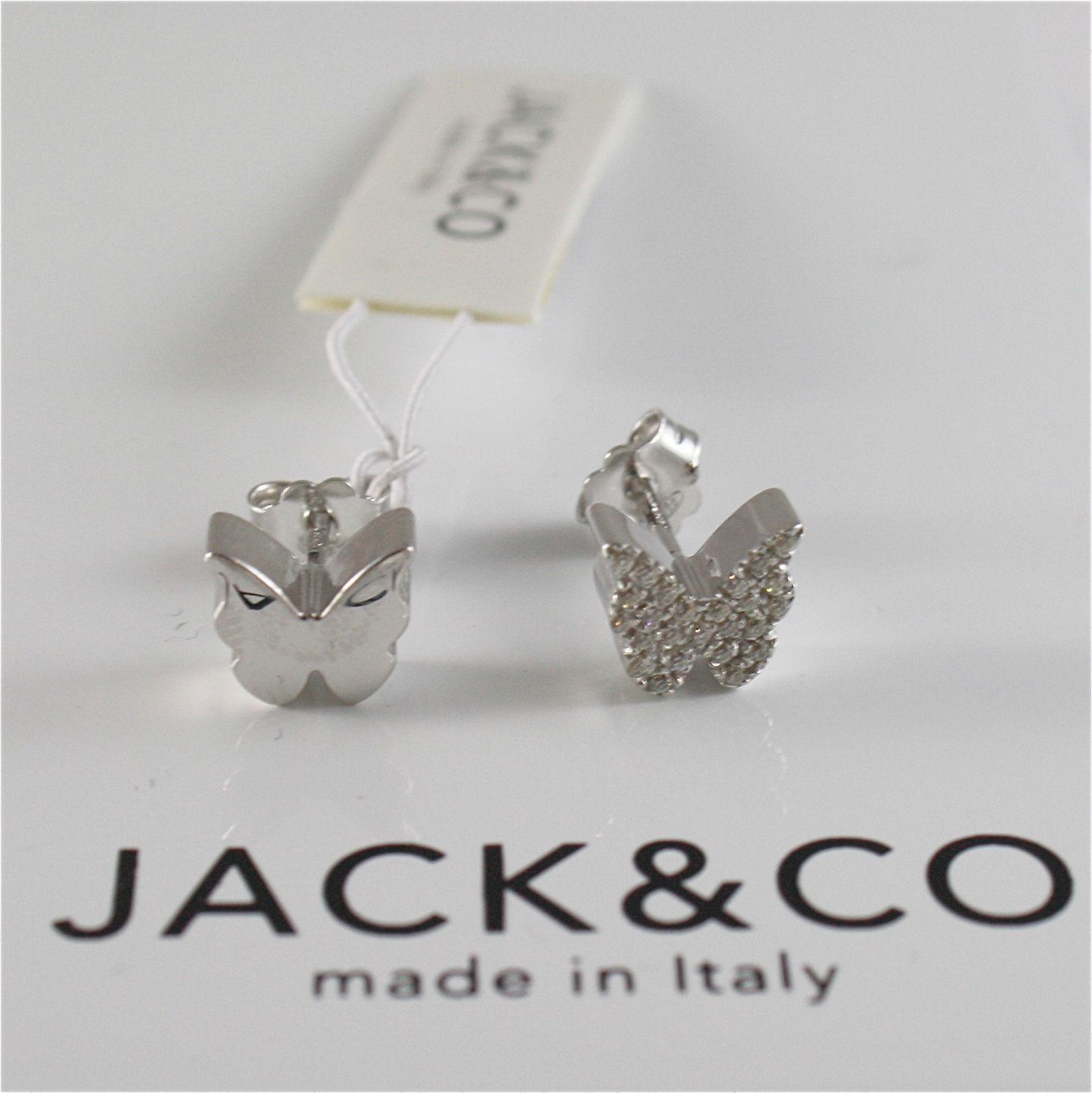 ORECCHINI IN ARGENTO 925 JACK&CO CON FARFALLA CON ZIRCONIA CUBICA JCE0451