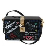 Hand Painted Wooden Black BOX SICILY Leather Purse - £847.55 GBP