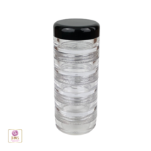 Stackable Jars Cosmetic Beauty Nail Craft Pill Container 5 Gram (5 Stack... - $26.95