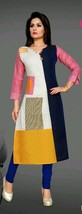 Indian Bollywood Beaded Kurti Designer Women Ethnic Casual Gown Anarkali... - €27,48 EUR